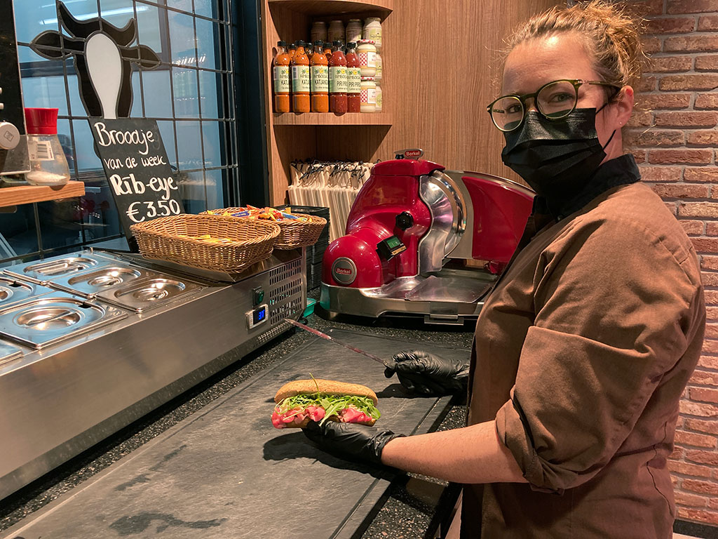 belegd broodje carpaccio slagerij mulder hilversum